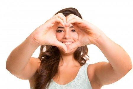 Woman Heart Face