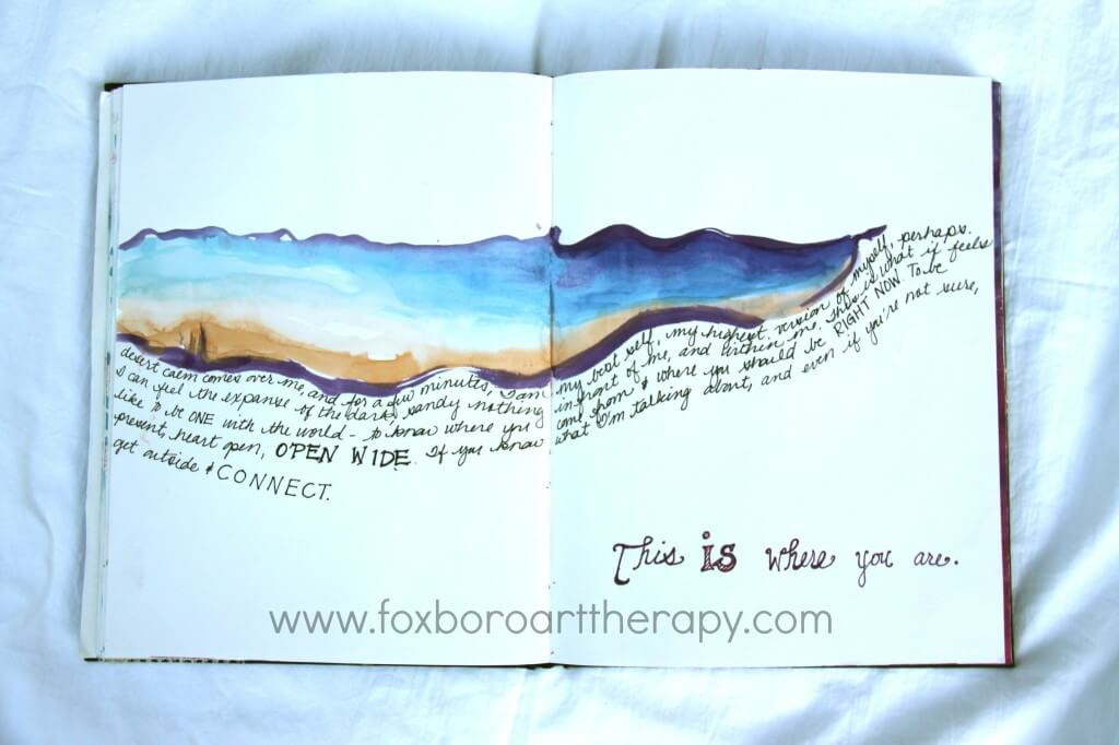 Desert journal page