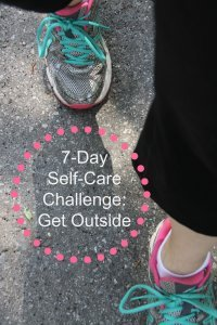 7 Day Self Care Challenge Outside