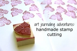 Handmade-stamp-cutting