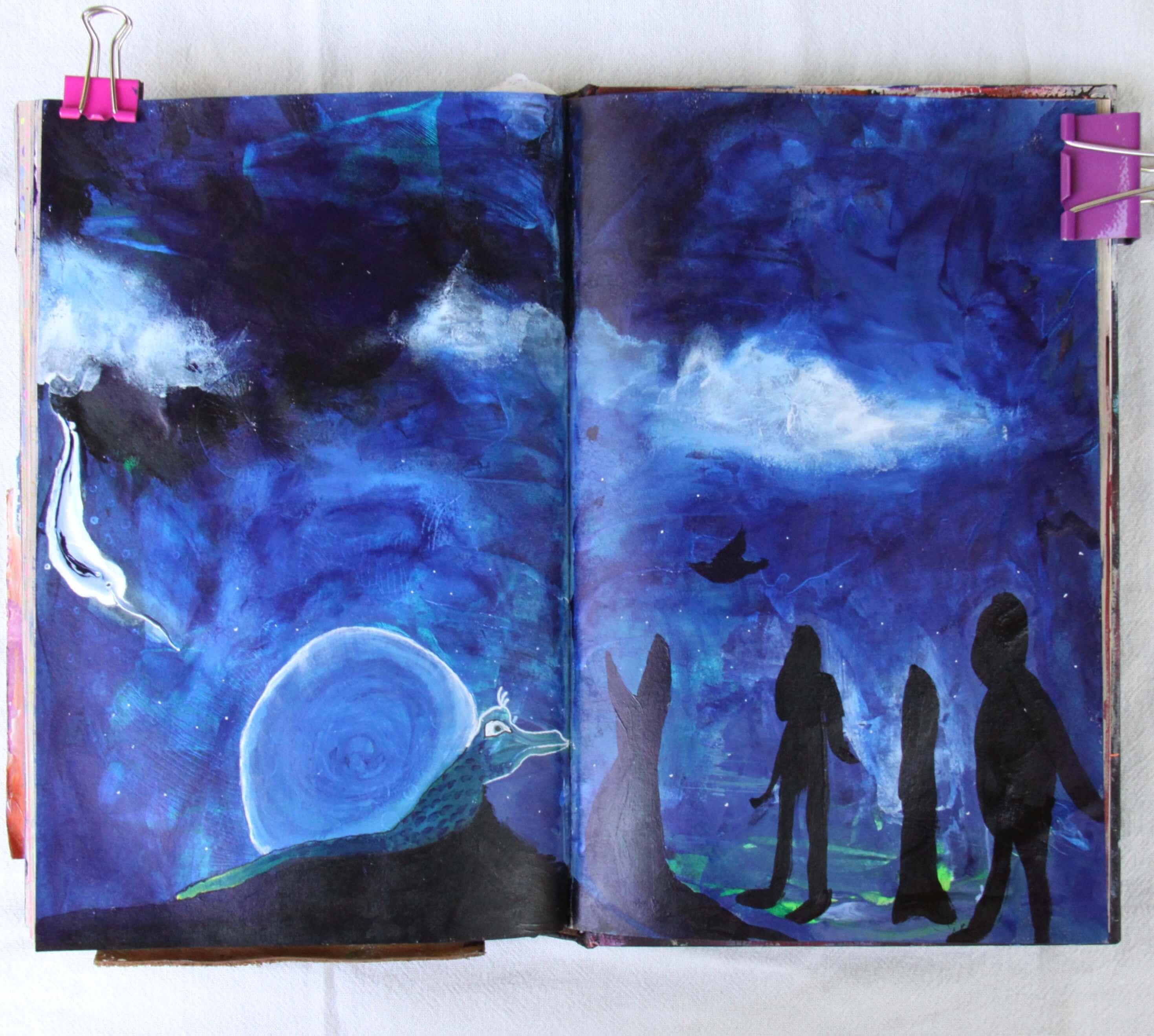 Art journaling online class