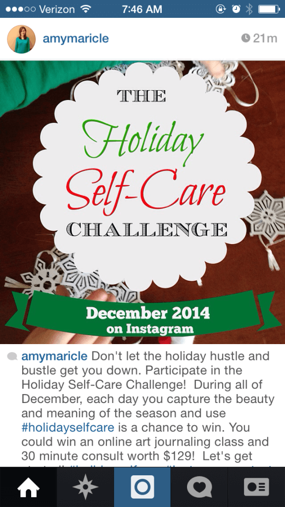 Holiday Self Care Insta Screen