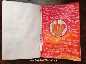 Self Love Art Journal Page