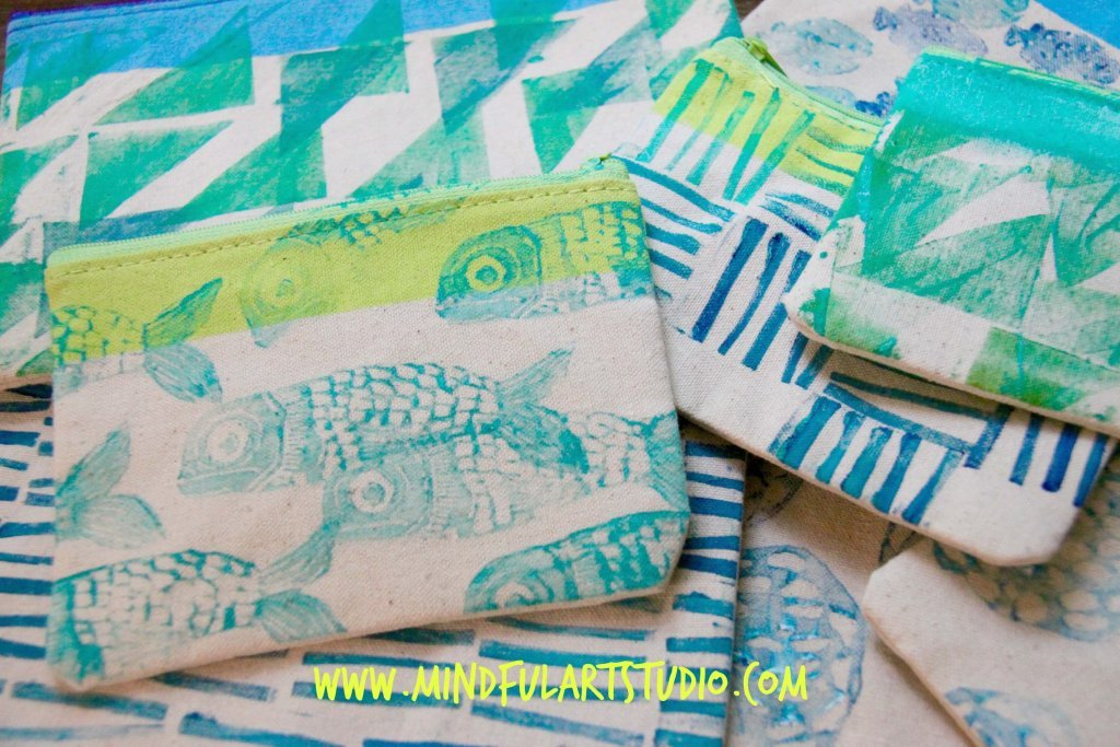 Stamped Art Pouches