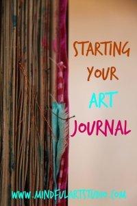 art journaling class, art journaling e-book, art journaling guide, how to start art journaling