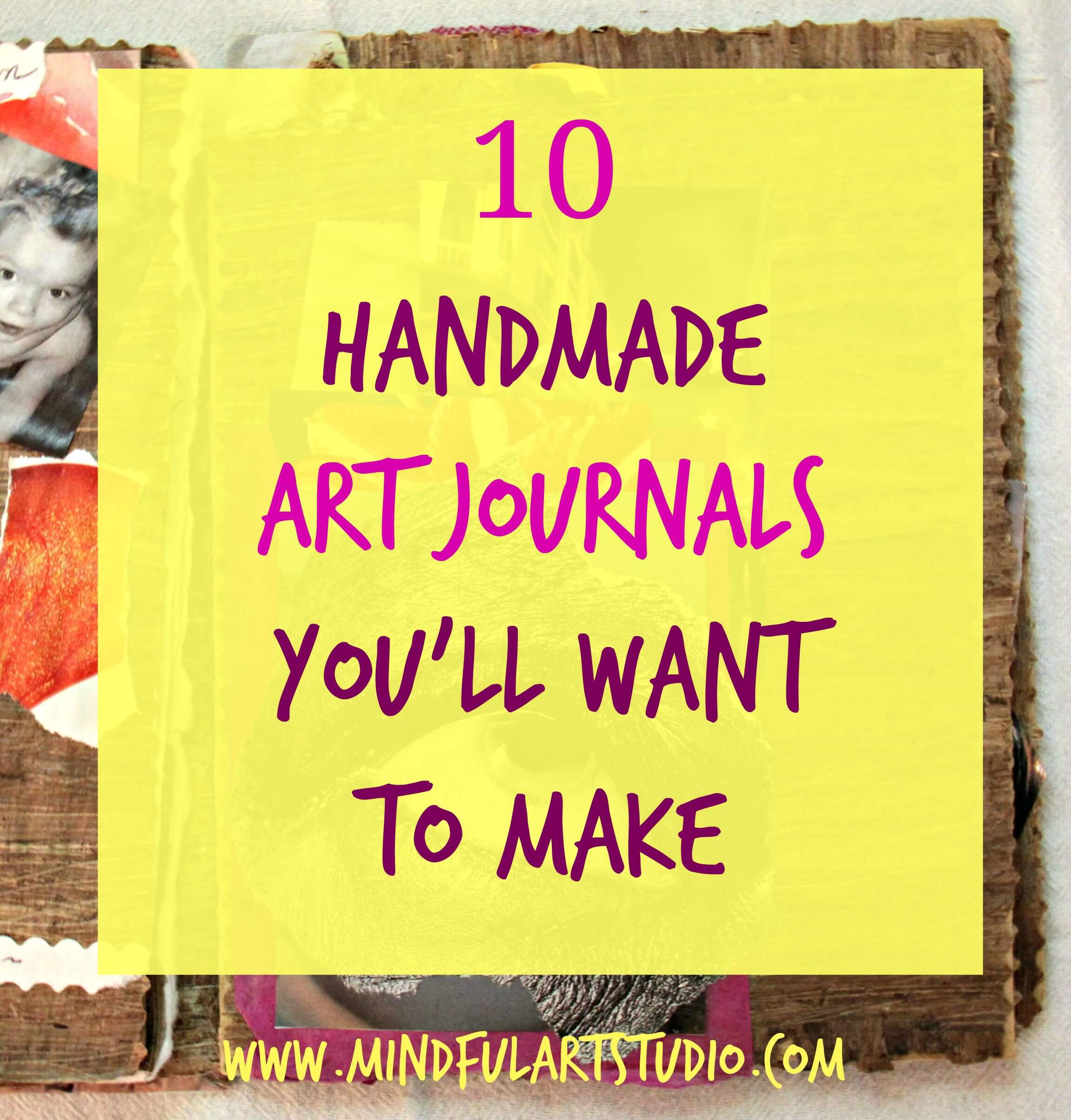 How To Make A Journal Book Cover ~ Handmade art journals you ll want to make