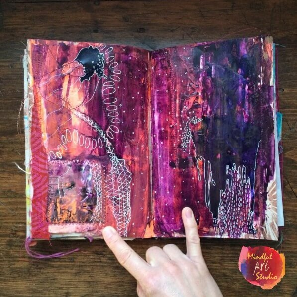 Journal Spread Liquid Acrylics