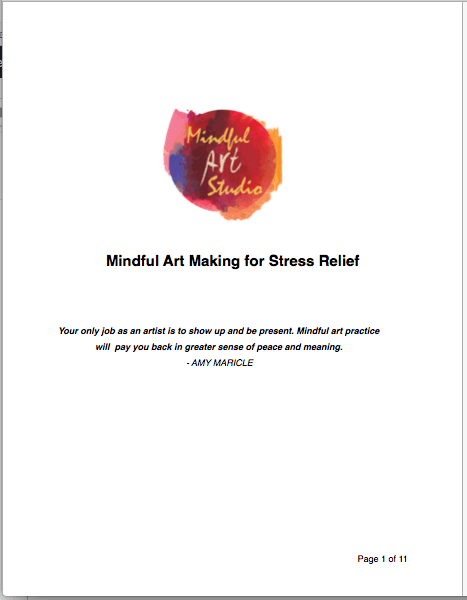 mindful art for stress relief, mindful art
