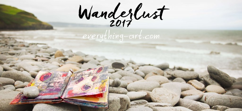 art journaling class, mixed media class, creative self-care, Wanderlust 2017