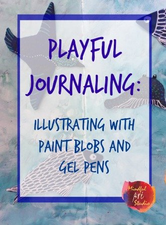 illustrating with paint, art journaling prompts, art journaling techniques, art journaling ideas, art journaling for stress