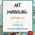 art journaling tutorial, art journaling video