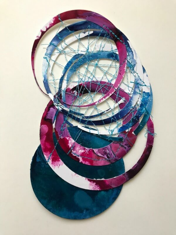 Fluid Art, art journaling class