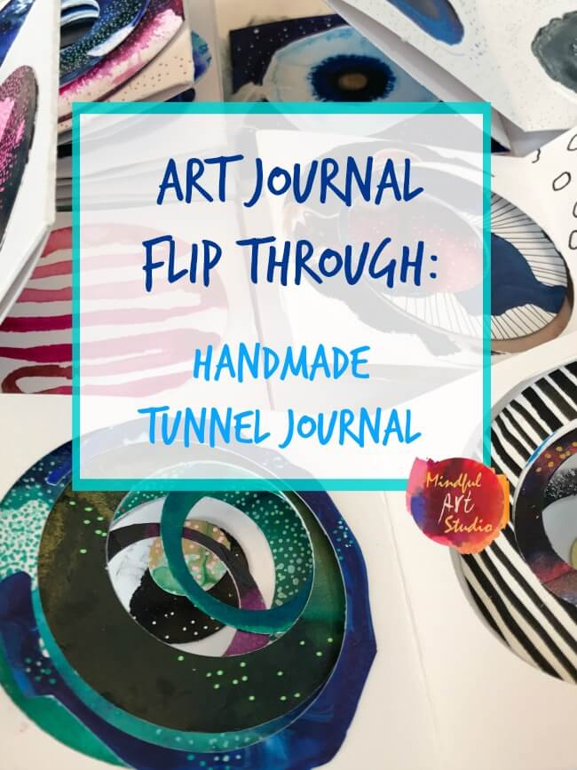 art journal flip through, art journaling class