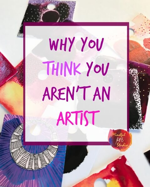 art journaling class, creative self-care, you are an artist, everyone is creative