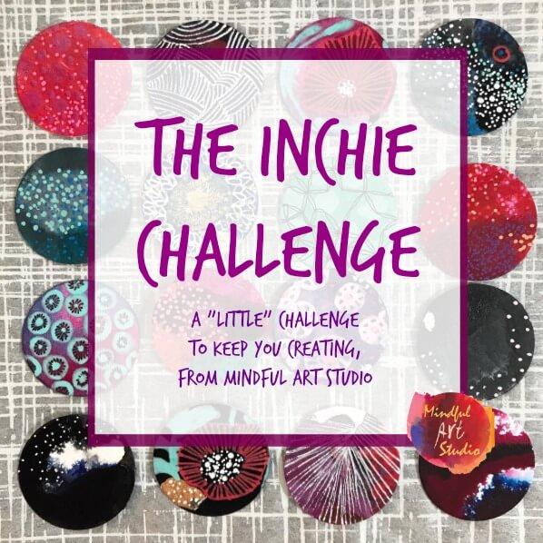 Inchie Challenge, art challenge, fluid art, fluid paint