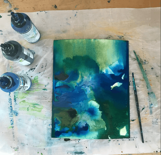 finding meaning in my art, fluid paint tutorial, how to fluid paint, fluid paint examples, how to use art for healing, mindful art techniques