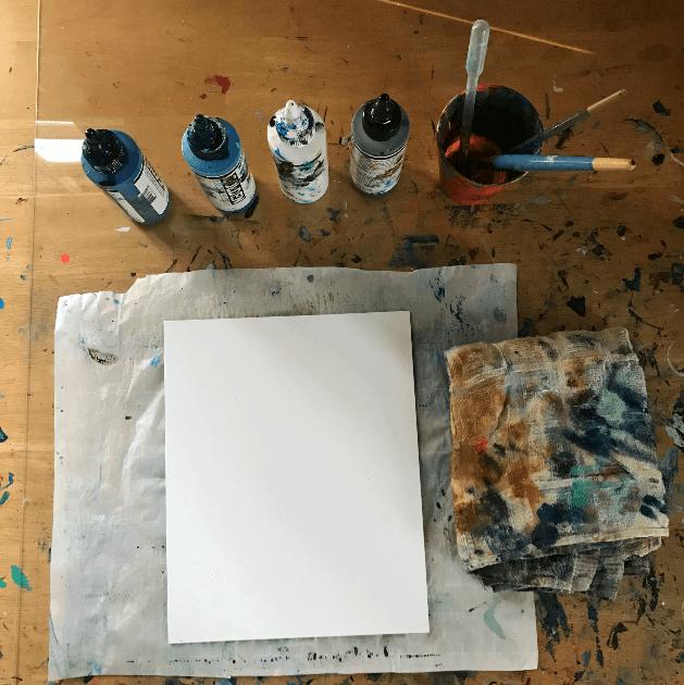 fluid painting tutorial, fluid paint ideas, how to fluid paint, art for self-care, art for healing