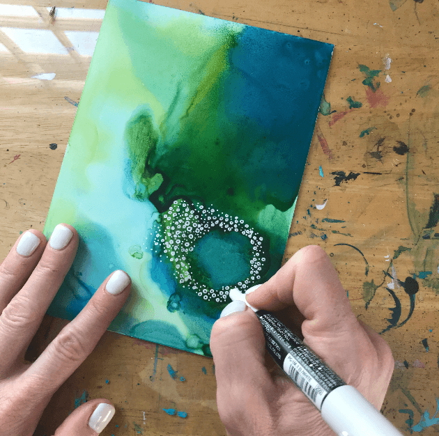 finding meaning in my art, How to use alcohol inks, how to paint for fun, how to paint about your feelings