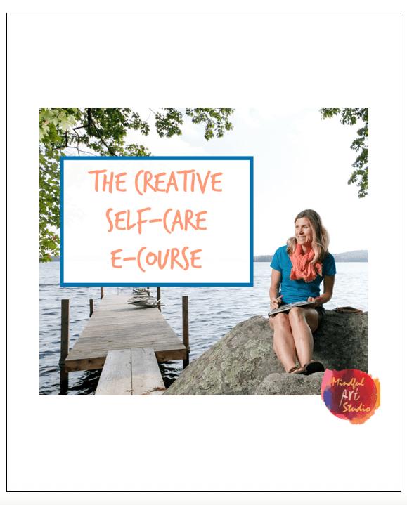 creative self-care ideas, creative self care class, art journaling ideas