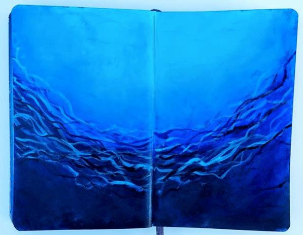 Diving Deep class, Intuitive Art Journaling