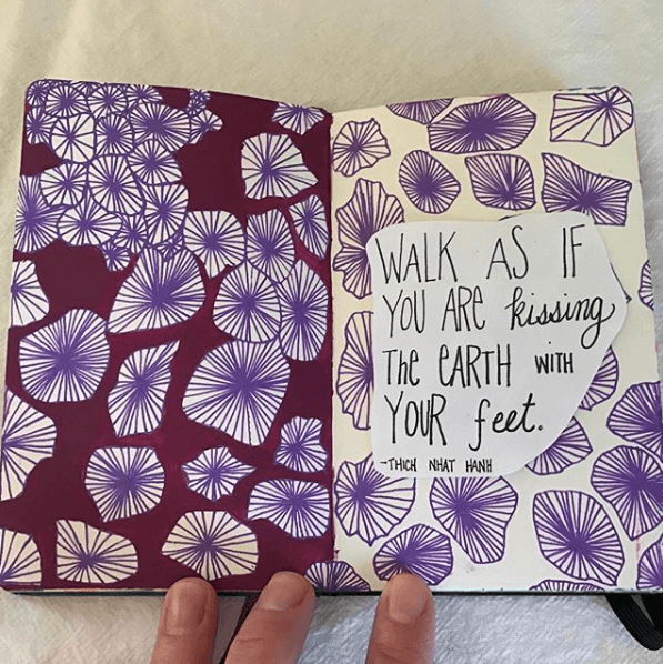 using writing and art together in art journal
