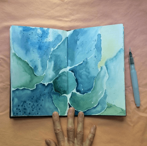 intuitive painting, intuitive art journaling, trusting the process