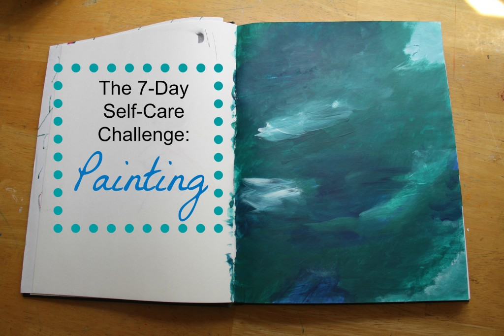 7 Day Self Care Challenge Painting