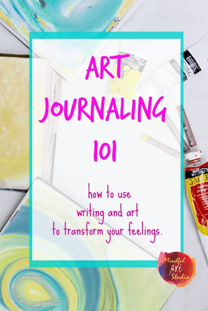 Creative Self-Care, art Journal class, intuitive art