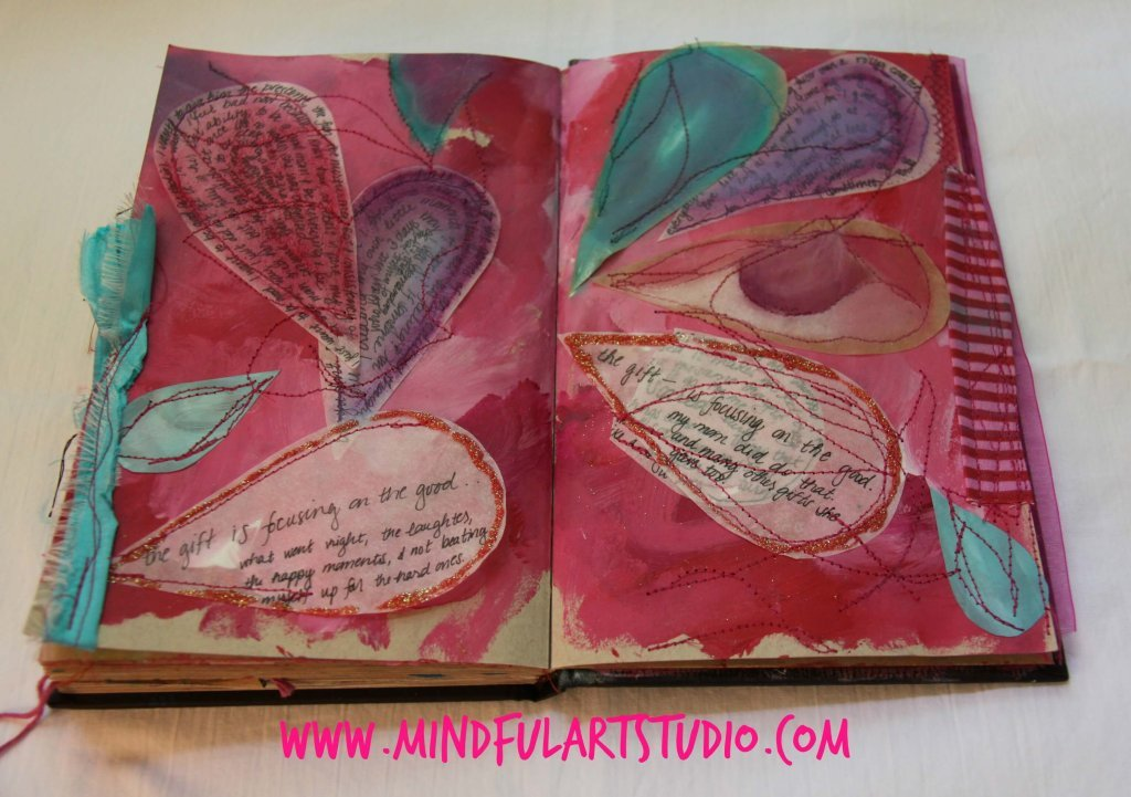 Finished Sewn Journal Page