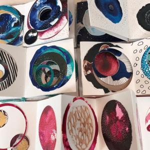 Accordion journals, handmade art journals, how to make an art journal