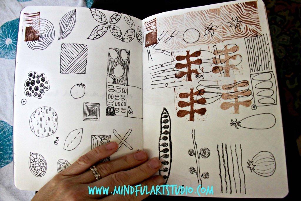 Block Print Idea Journal Page
