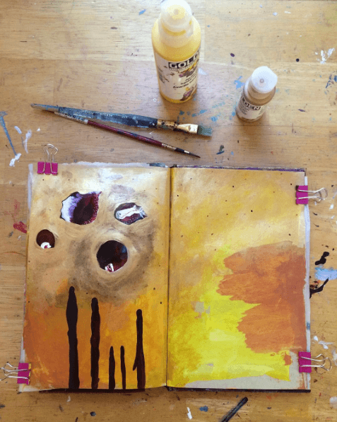 intuitive painting, expressive art journaling, creative self-care