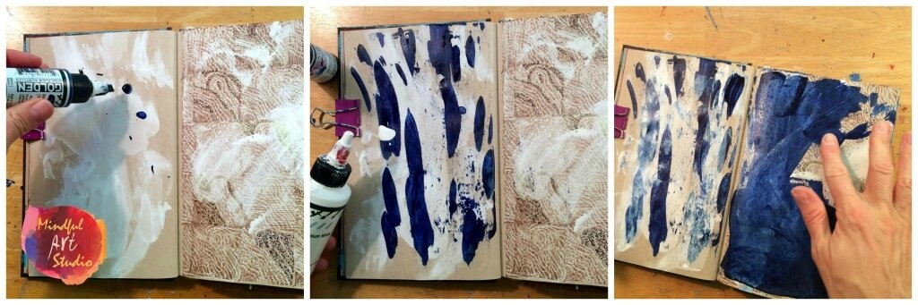 Liquid Acrylic Journal Fun