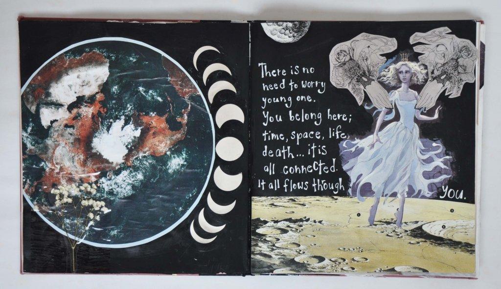 Vanessa Oliver-Lloyd - art journaling self-discovery, art for feelings