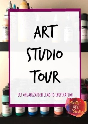 Art Studio Tour, art studio ideas, small art studios