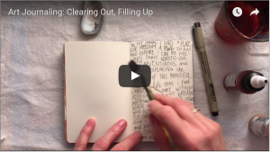 art journaling video, art journaling tutorial