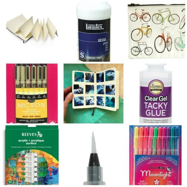 Art Journal Starter Kit, art journaling supplies