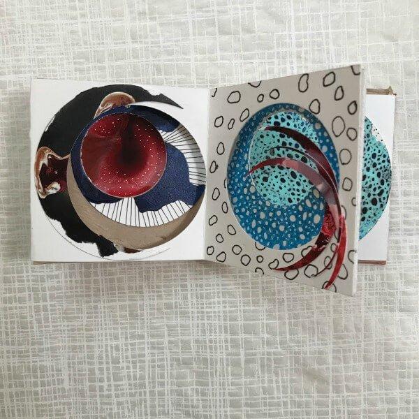 Fluid Art class, art journaling class, tunnel journal