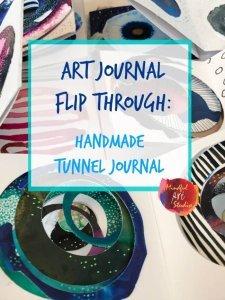 art journal flip through, art journaling class