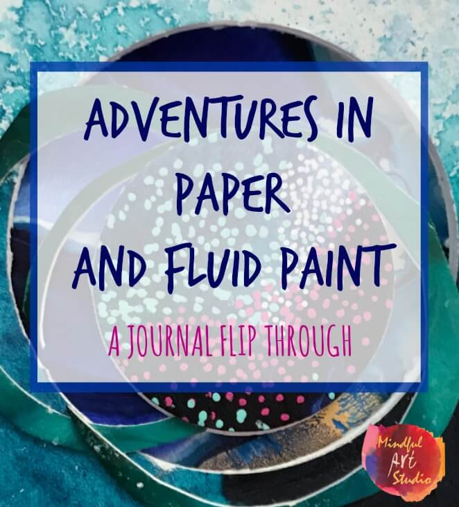 A super creative take on an accordion journal, tunnel journal, adventures in paper and fluid paint