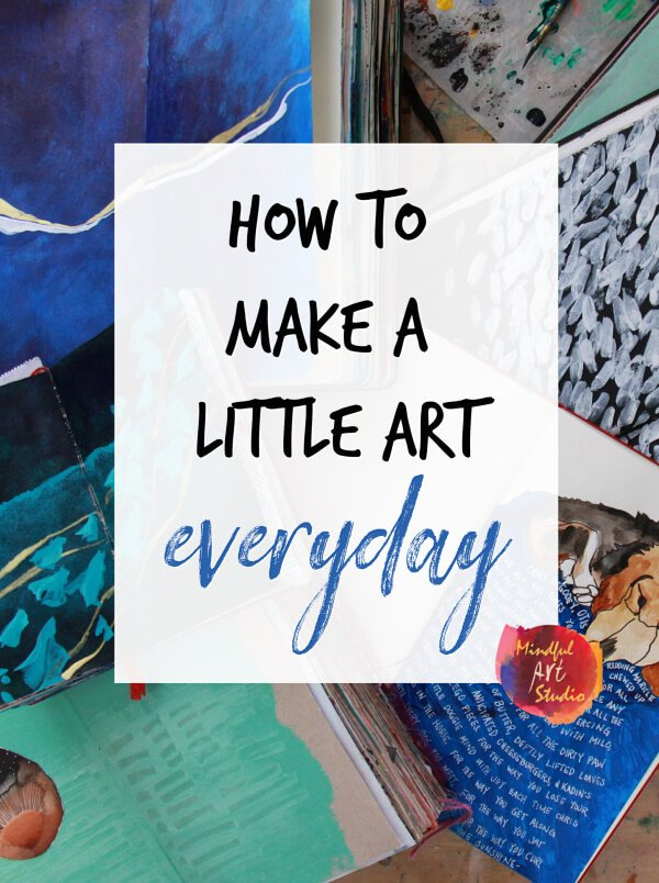 how to make a little art everyday, small art, small art ideas, inchie art, inchie paintings, make art daily, daily art ideas