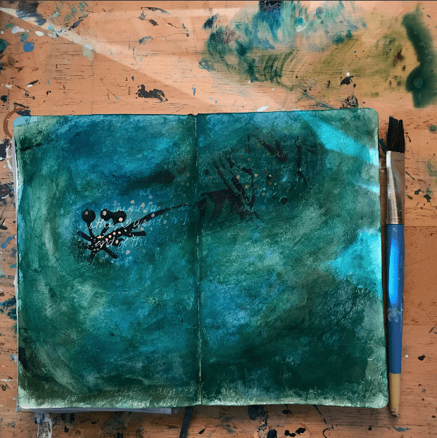 mixed media art journal, mixed media art journaling