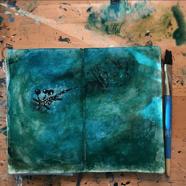 mixed media art journal, mixed media art journaling
