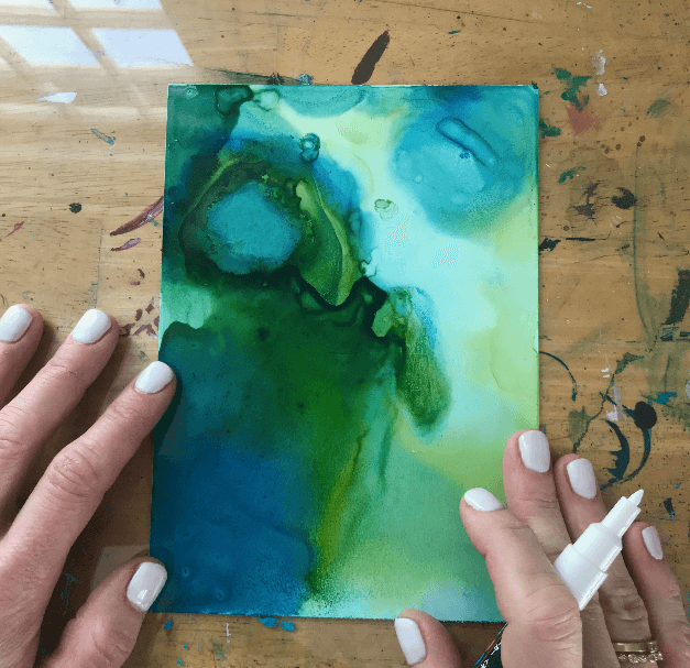 alcohol ink tutorial, alcohol ink on yupo paper, fluid paint tutorial, painting for stress relief