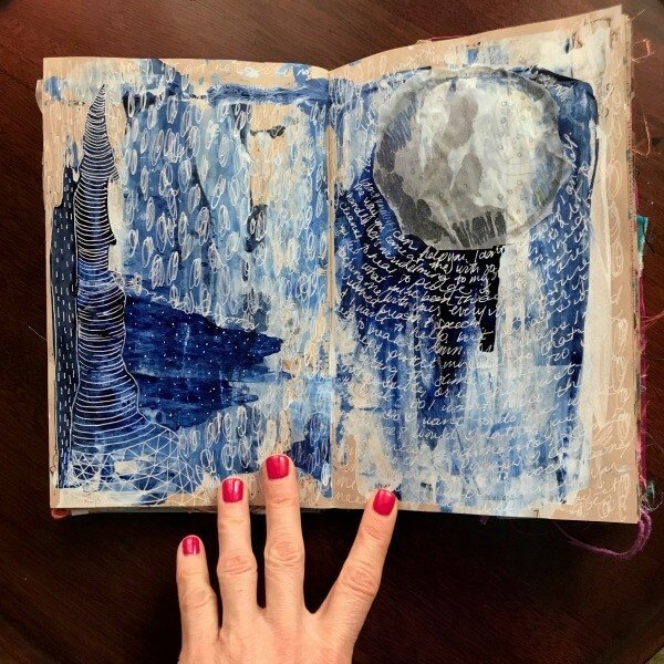 Incorporating art and writing in your art journal, intuitive art ideas, how to make intuitive art