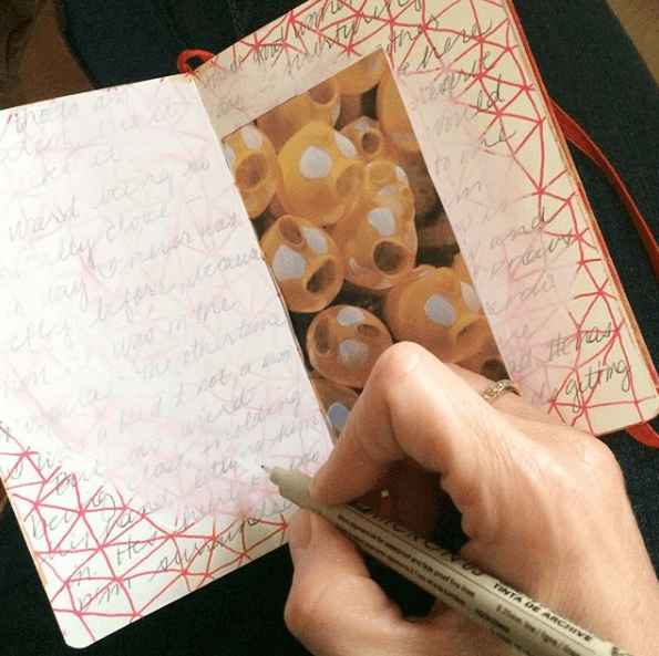 how to write in an art journal, Blending Art & Writing In Your Intuitive Art Journal