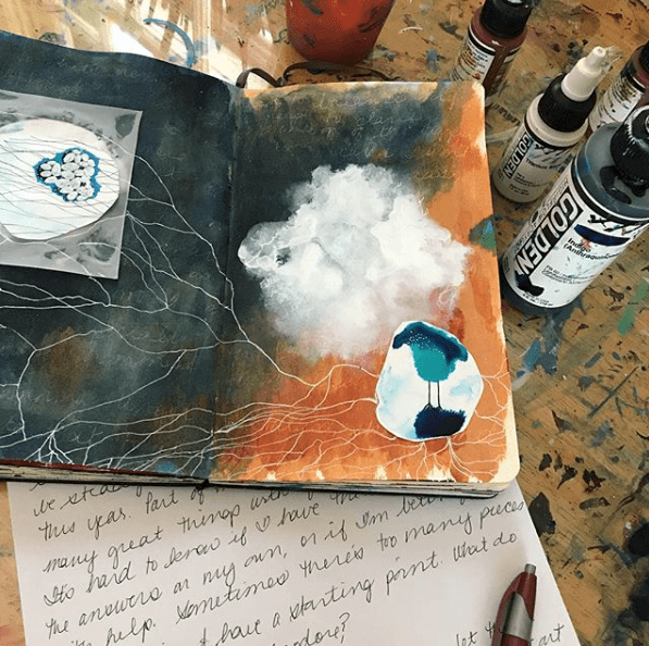 Intuitive art journal ideas, intuitive art journal