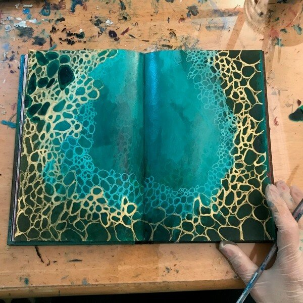 intuitive painting, intuitive art journaling, trusting the process, intuitive painting class