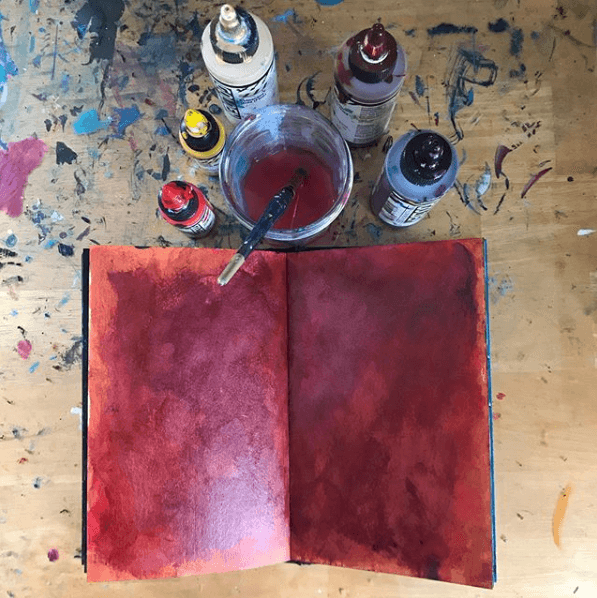 art journal background, perfectly imperfect art