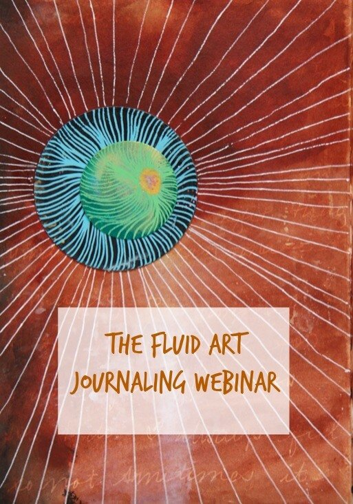 fluid art, fluid art journaling